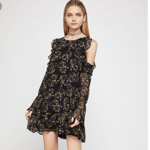 BCBGeneration floral coldshoulder dress. Worn once